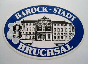 Souvenir-Aufkleber Bruchsal Barock-Stadt Castle Kraichgau Baden-Württemberg 80s