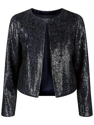 VB403 Details about  /BNWT RRP £199 Corina Fenn Wright Manson Blue Sequin Dress 8 petite