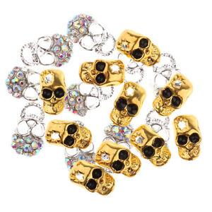 20pcs alloy jewelry nail art decoration multi color skull