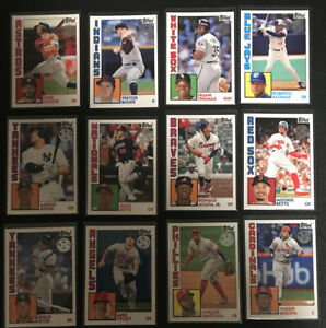 Lot-of-12-2019-Series-1-Topps-35th-Anniversary-1984-Trout-Acuna-Soto-Jeter-Betts