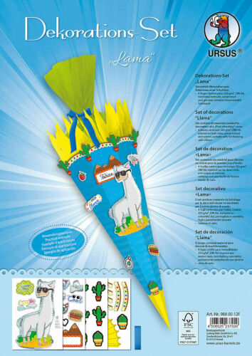 Ursus Lama Dekorations Set  Bastelset für Schultüte ca 68cm
