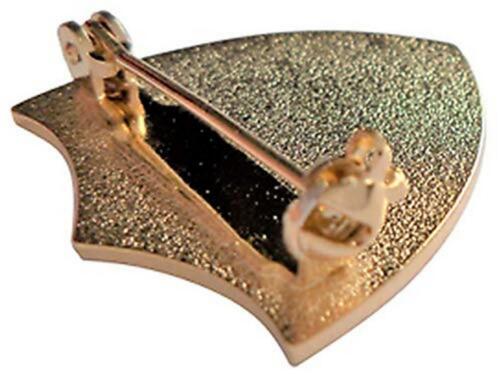 Buddy Pin Badge in Blue Enamel Shield