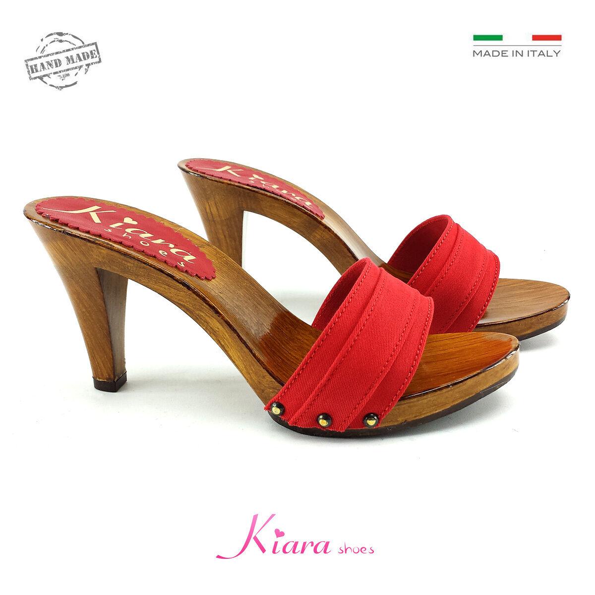 Zoccoli Rossi - Made in  35-al 35-al 35-al 42 - Tacco 9 cm K6101 red 6243a4