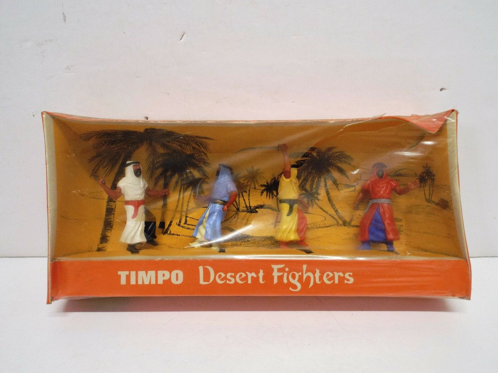 TIMPO RARO 20/4 in scatola araba deserto COMBATTENTI X4 eccellente in scatola (T37)