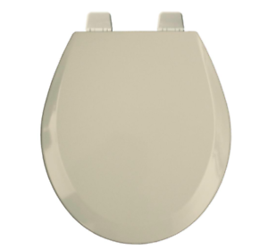 Bemis Round Toilet Seat.Details About Bemis Round Open Front Toilet Seat Lid Cover Beige Wood Hardware Hinges Bumpers