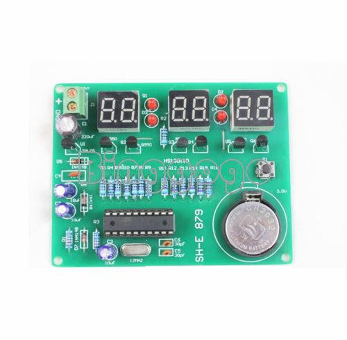 9V-12V 6 Digital AT89C2051 LED Electronic Clock Parts Components DIY Kit Module
