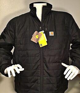 Carhartt-Men-039-s-Gilliam-Jacket-Rain-Defender-Black-Size-2XL