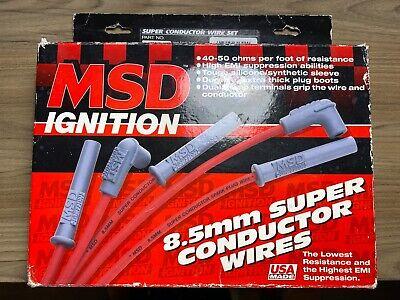 MSD-5543 MSD Spark Plug Wire Street Fire 8.0mm Straight Boots Ford SB Set