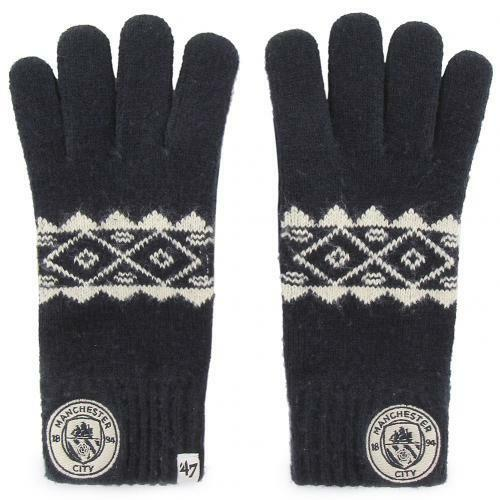 Manchester City F.C. Knitted Gloves Adult Fairisle Sport Football Gift Idea