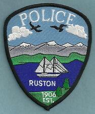 RUSTON WASHINGTON POLICE PATCH SAILBOAT!