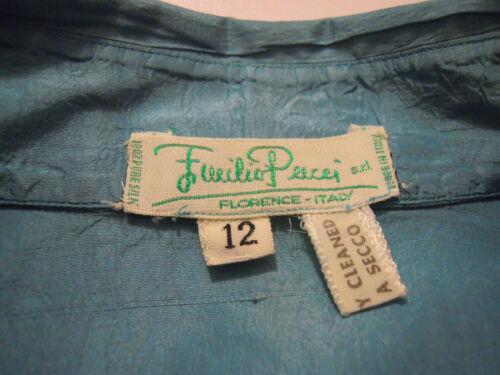 Vintage Silk Emilio Donna Sz Pucci Woman Camicia Shirt Seta 48 xl '60 OnFY5wqF