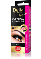 2x Delia Henna Gel Eyebrow Eyelash Tint Dark Brown For 30
