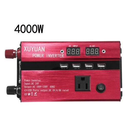 3000W-6000W Power Inverter DC12//24V To AC110V//220V Converter Dual W//LED Digital
