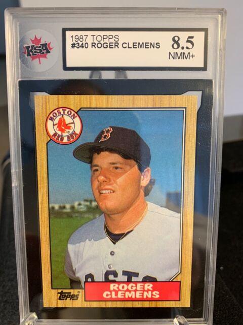 1987 Roger Clemens Topps KSA Graded 8.5 NMM #340 - Boston Red Sox
