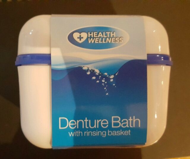 Denture Bath With Rinsing Basket NEW