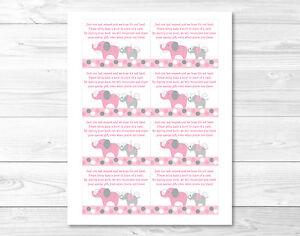 Image Is Loading Pink And Gray Polka Dot Elephant Printable Baby