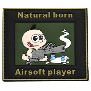 Emblem 3D PVC Natural born Airsoft Player Klett Patch Abzeichen Aufnäher Softair