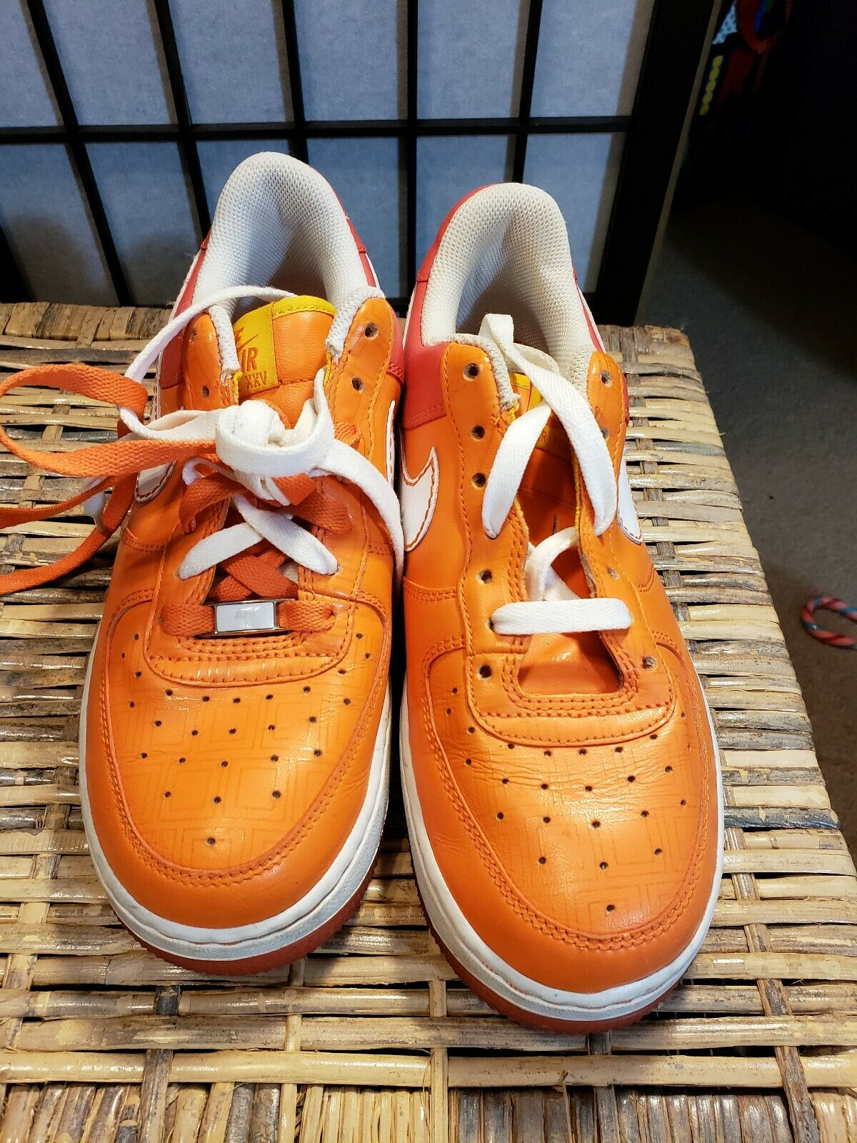 Nike 315115-811 Air Force 1 2007 2007 2007 orange Leather Basketball shoes Women's 7.5 6ad094