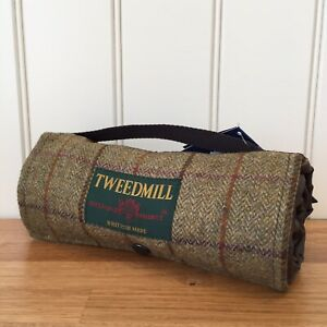 Details About Tweedmill Walker Companion Tweed Brown Picnic Rug Waterproof Backing