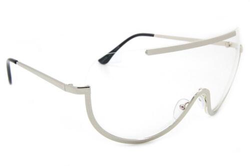 Überdimensional Aviator Durchsichtige Linse Sonnenbrille Gold Silber