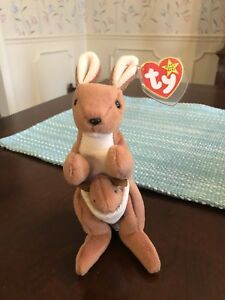 d0226f8c420 Ty Beanie Baby ~ POUCH the Kangaroo RARE - STYLE 4161- DEUTSCHLAND ...