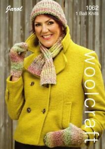 Knitting Pattern For Womens Ladies Ribbed Cravat Scarf Mitts