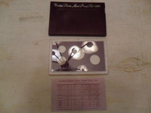 1991 Proof Set Box /& Lens ONLY