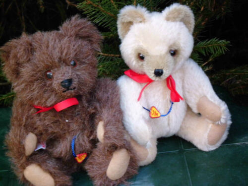 2 süße Clemens Bären/Teddy s 18cm unbespielt Hart gestopft .Ashton Drake 2 Teddys