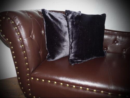 Coussin oreiller Housse Coussin en brillant-design noir-taille au choix!