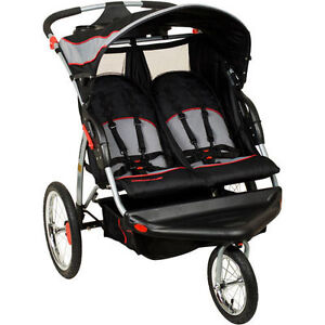 Image Is Loading Baby Trend Double Jogger Stroller Seats Two Lightweight