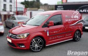 para-2015-Volkswagen-VW-Caddy-Maxi-Acero-Barra-Peldano-LATERAL-Tubos-Barra
