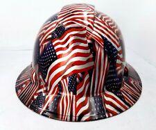 Hard Hat Full Brim Custom Hydro Dipped Osha Approved Usa Flag American Flag