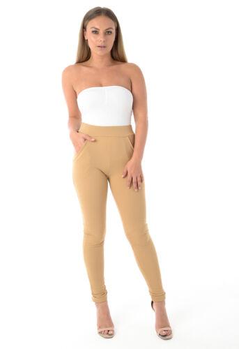 Womens Ladies Stretch Skinny High Waist Jeggings Leggings Trousers UK 6-14