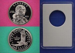 2001-S-Proof-Sacagawea-Native-American-Dollar-With-DIY-Slab-Flat-Rate-Shipping