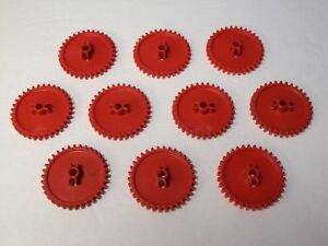 10-KNEX-GEARS-Red-2-1-4-034-Gear-Replacement-Parts-Pieces-Lot