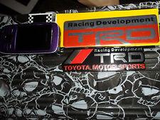 2x TRD TOYOTA MOTORSPORT JAPANESE MOTOR ALUMINIUM STICKERS