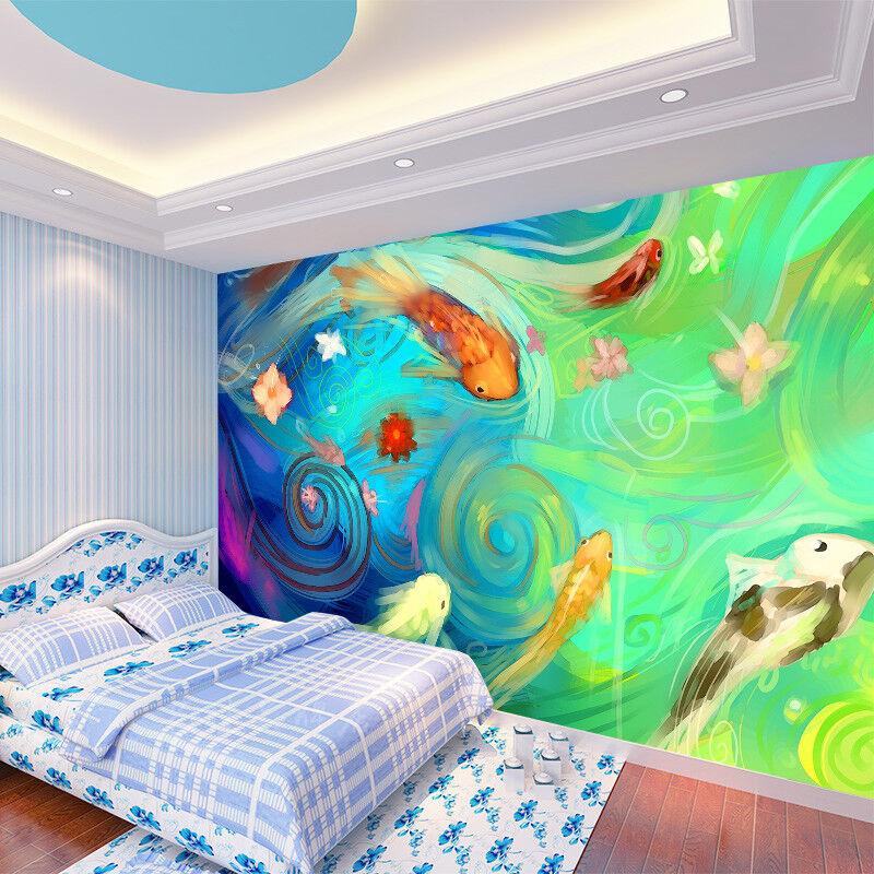 3D Paint Fish 425 WandPapier Murals Wand Drucken WandPapier Mural AJ Wand UK Summer