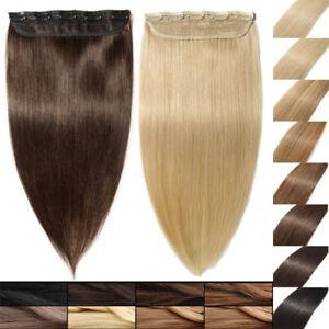 100-Remy-Echthaar-Haarverlaengerung-Clip-In-Human-Hair-Extensions-8-Farben-DE-OJ