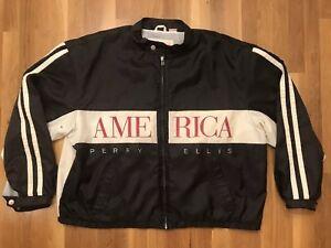 Image is loading Perry-Ellis-AMERICA-Vintage-90s-Windbreaker-Men-039- 6818ec522
