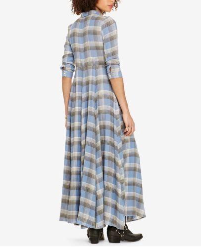 Ralph Ralph Ralph Lauren Denim & Supply Women's New Plaid Cotton Maxidress Halstead Plaid M 4295f4
