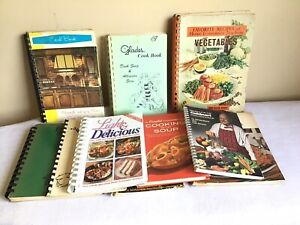 Vtg Mixed Lot Of 10 Community Church Organization Spiral Cookbooks 1960s-1990s