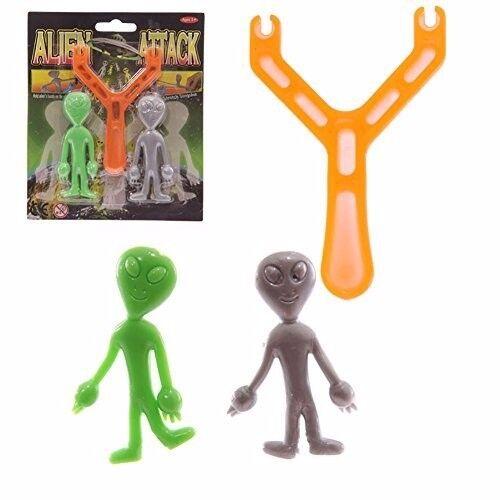 2 TOTAL  2pk/'s  ALIEN UFO SLINGSHOT Novelty GaG Toy Party Favor Bag Filler Toy