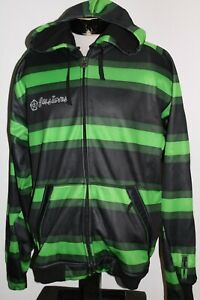 SESSIONS-Mens-Large-L-striped-hoodie-hooded-Sweatshirt