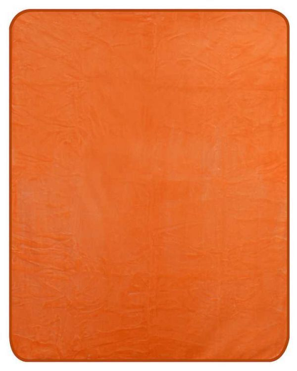 NEW QUEEN SIZE 79 X96  SOLID COLOR HEAVY WEIGHT BED BLANKET orange or PINK