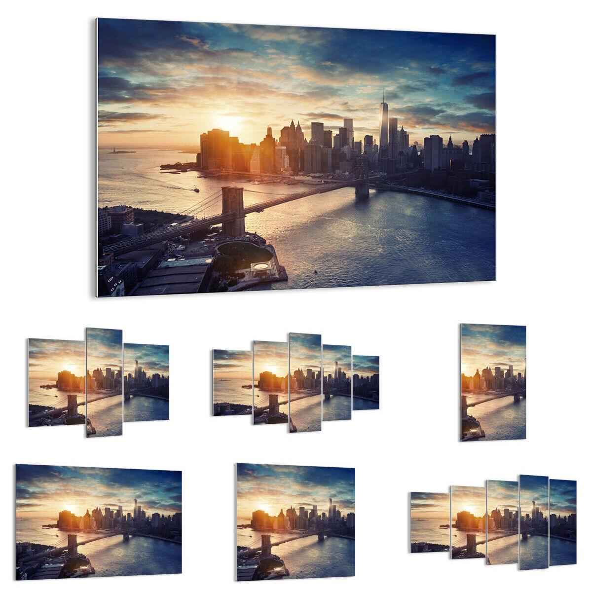 GLASBILD Wandbild Deko New York Stadt 3733 DE