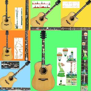 Guitar-Fretboard-Decals-Sticker-Guitar-Neck-Headstock-Bass-Ukulele-Thin-Stick-YK