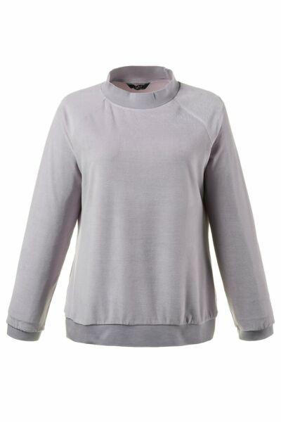 ULLA POPKEN Sweatshirt in Samtoptik perl-lila NEU