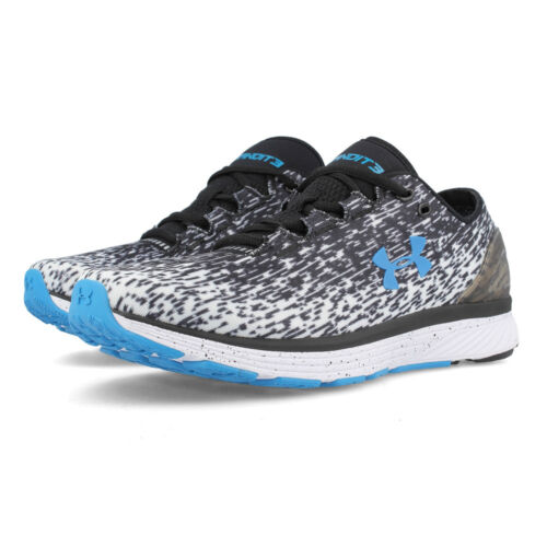 Under Armour Hombre Charged Bandit 3 Ombre Correr Zapatos Negro Azul Blanco