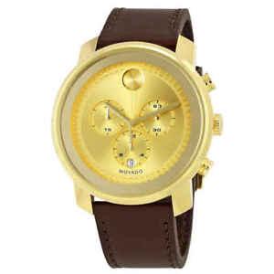 Movado-Bold-Gold-Dial-Chronograph-Men-039-s-Watch-3600409