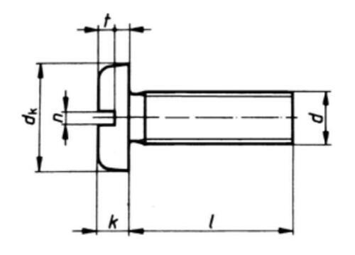 10x Schraube verkupfert M5 x 10 Linsenkopf mit Schlitz